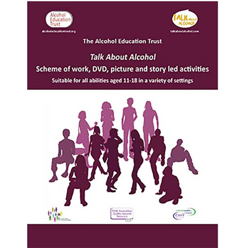 Full Talk About Alcohol education pack including classroom activity cards, DVD, additional SEN lessons, guidance and powerpoints